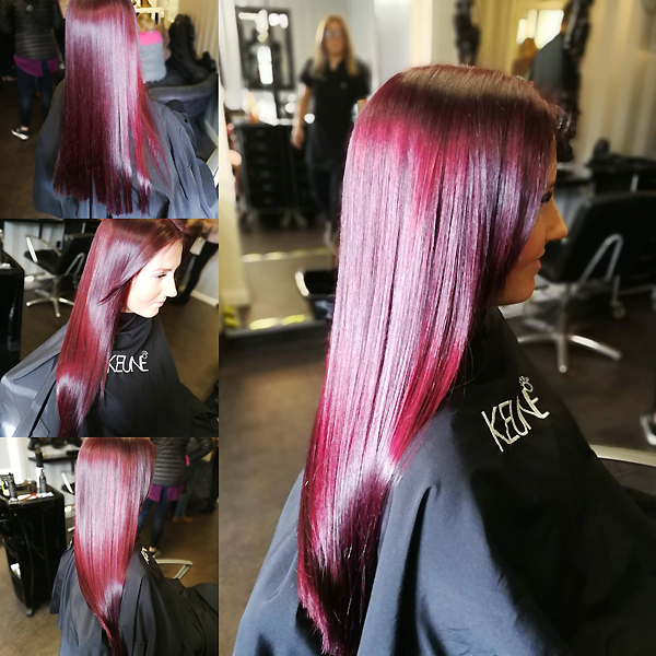 Salon hair colouring services in Plymouth